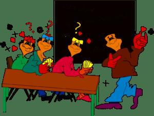 cartoon klaslokaal